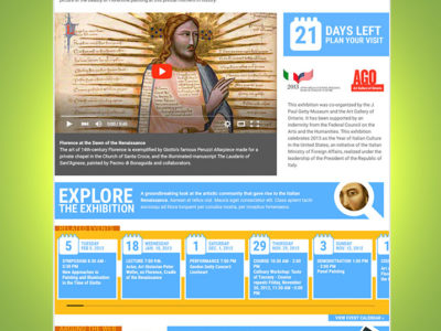 The Getty Center: Exhibition Template